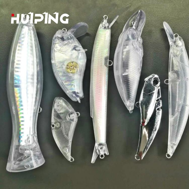 Lures Fishing Unpainted Plastic Lure Blank Bodies Artificial Hard Bait for Minnow Crank Popper Pencil VIB