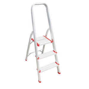 3 Steps Aluminum narrow step Ladder foldable easy store