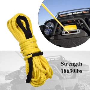 33ft 12Ton Heavy Duty Super Strong Emergency Automotive Vehicle Auto Car Rescue Recovery Tow Trailer Rope Strap Belt with Hooks