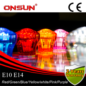 Fabricación de E14 16 led SMD2835 12V 12 V/24 V IP44 AC24V color Parque de Atracciones bombillas led china cabujón led rgb cameleon lámpara