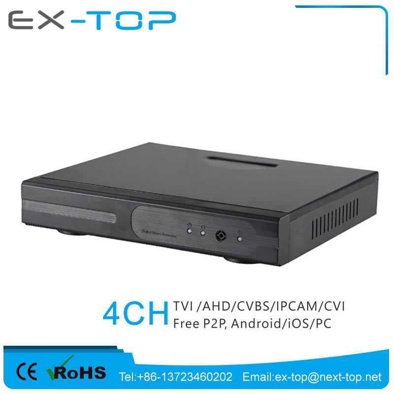 1080P P2P Cloud HD Hybrid 5 IN 1 TVI CVBS IPCAM CVI AHD 1080P 4 Channel Dvr