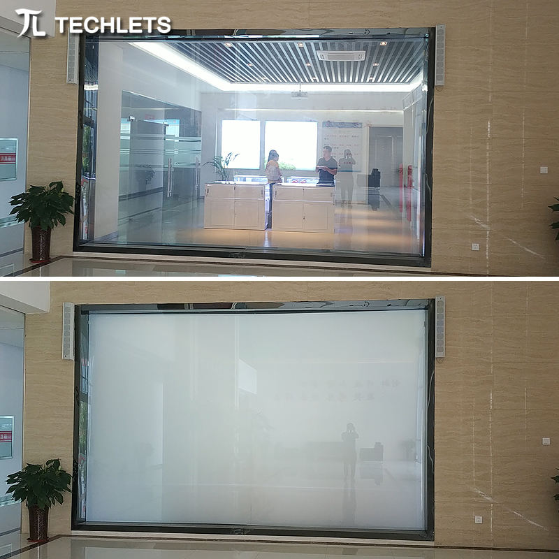 High quality adhesive privacy window film/pdlc smart film/switchable electric car window film