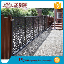 italian antique automatic sliding pedestrian laser cut gates /wrought iron driveway gate / front aluminum gates design