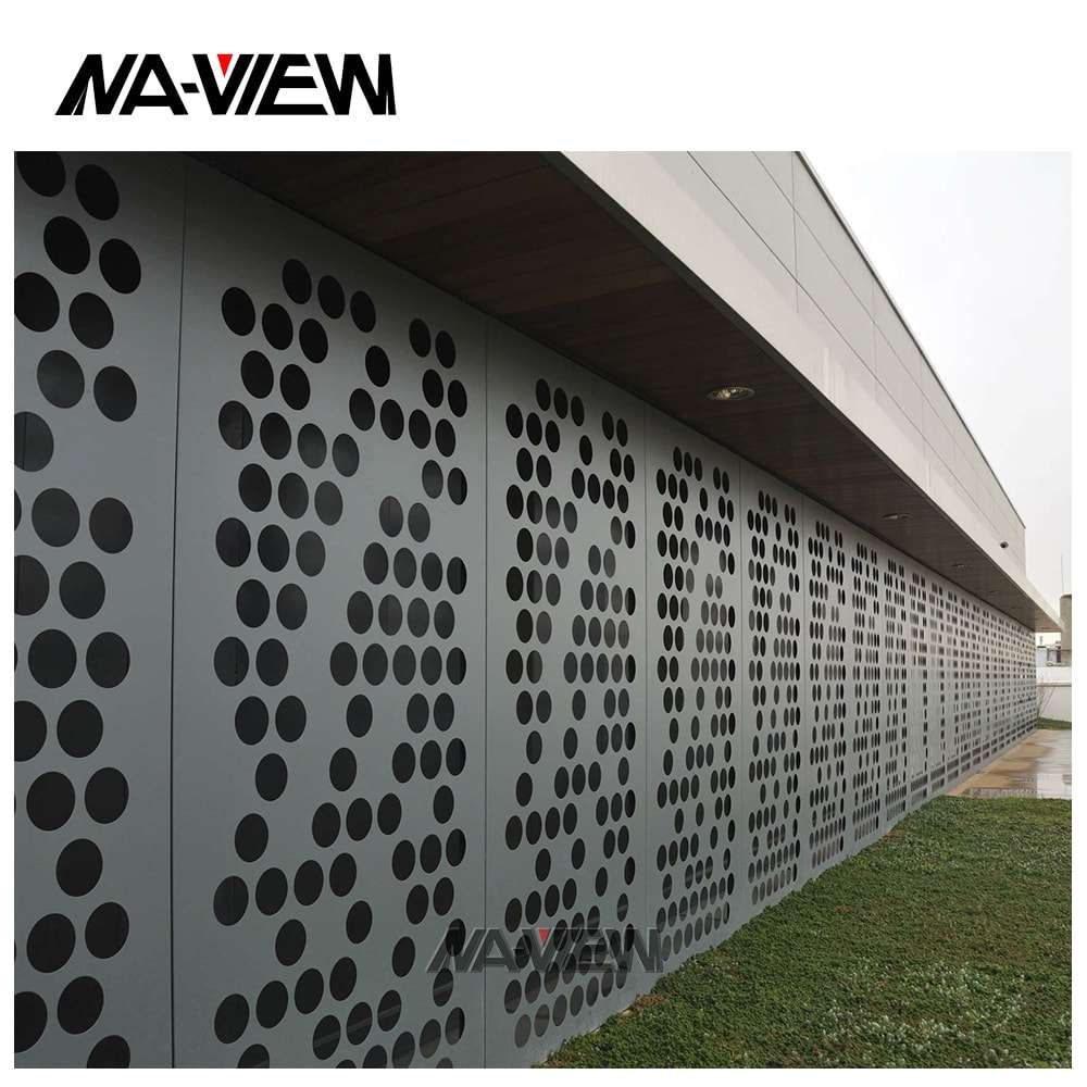 Perforated decorative metal aluminum screen mashrabiya panel