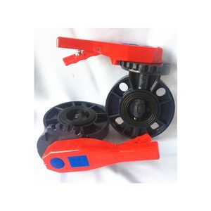 2inch to 8inch Manual Handle screw wafer plastic butterfly valve pvc