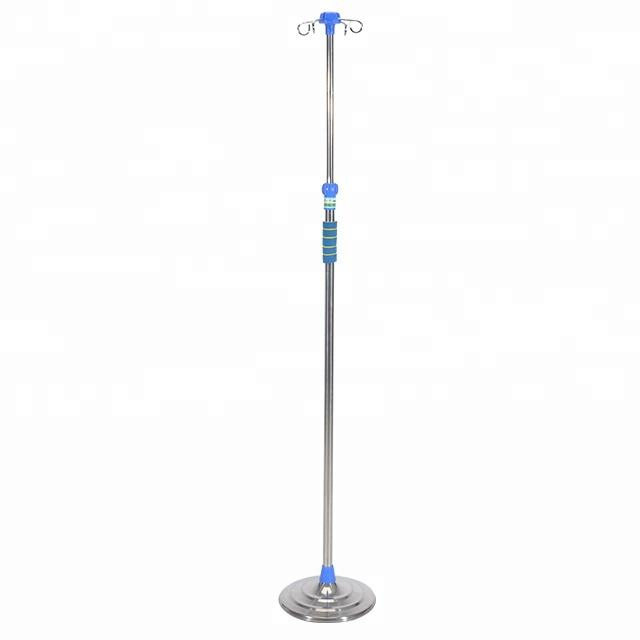 Aluminum And Stainless Steel Infusion Stand IV Pole For Patient