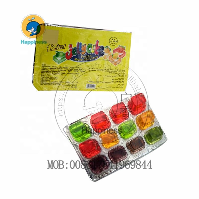 China colorful mini fruity 12 in 1 jelly cup fruit jelly candy