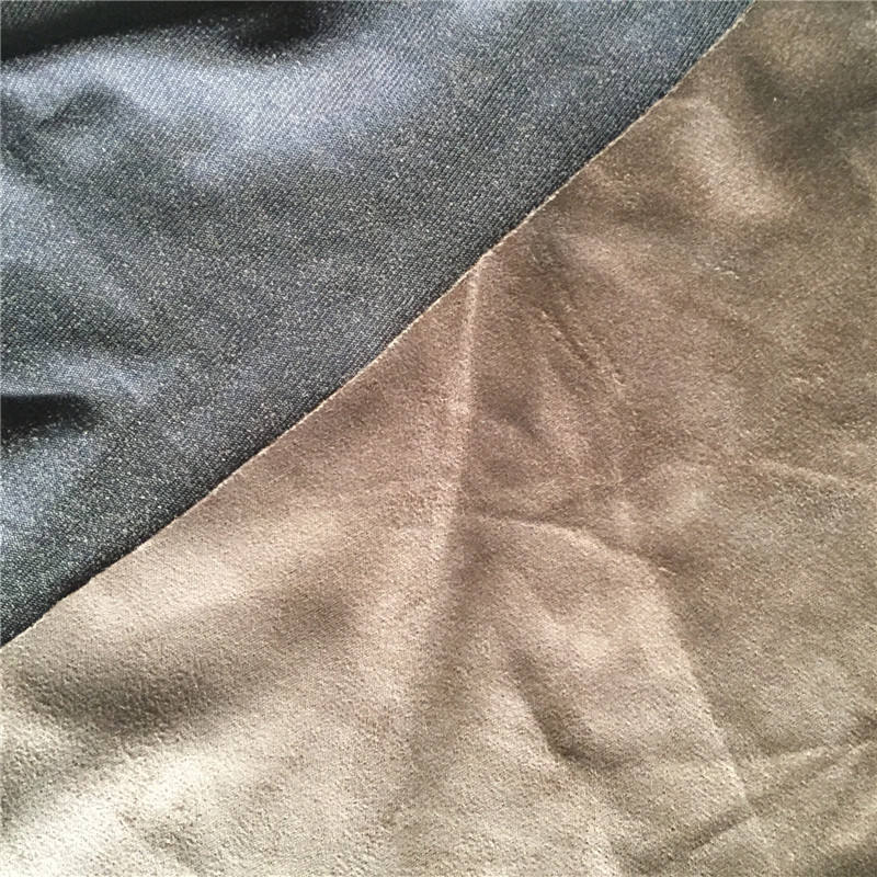 100%polyester warp knitting velvet for suede fabric