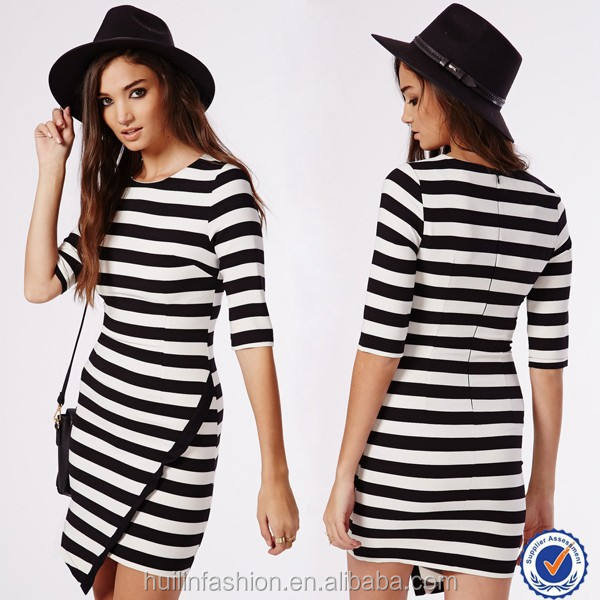 China factory new york fashion stripes dress wholesale clothing women casual dresses