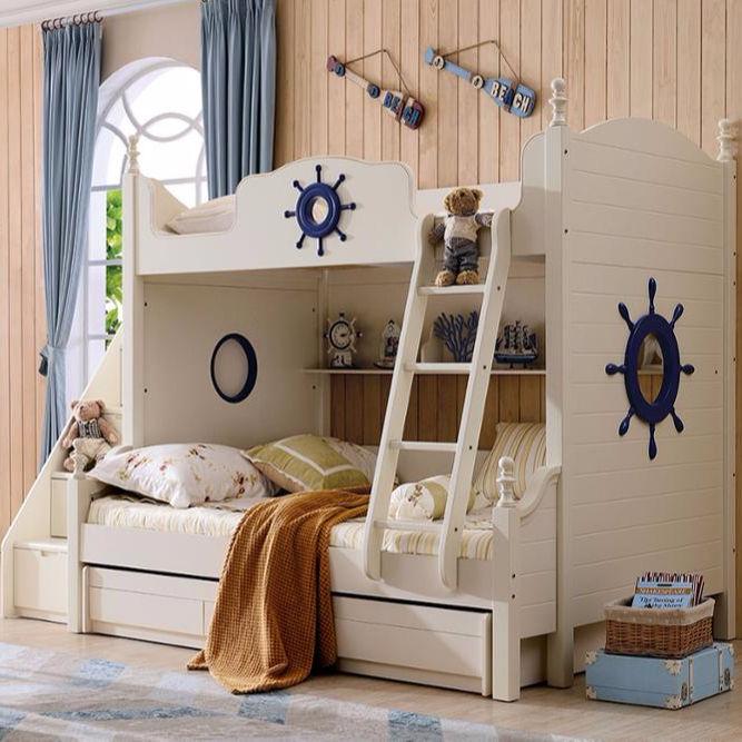 Nuevo diseño americano dormitorio moderno mobiliario es <span class=keywords><strong>de</strong></span> madera maciza <span class=keywords><strong>de</strong></span> <span class=keywords><strong>roble</strong></span> en marfil blanco acabado