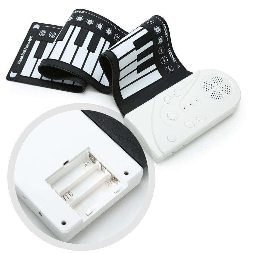 Portable 49 Tombol Fleksibel Roll Up Piano Elektronik Lembut Keyboard Piano Karet Silikon Keyboard