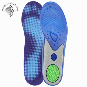 High Quality TPE Cooling Gel Sport Insole Orthotic Silicone gel Insole With Arch Support Heel Absorb Shock