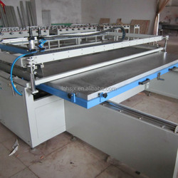 Large screen printing machine with sliding table for glass