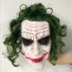 Joker Mask Movie The Dark Knight Horror Clown Cosplay Latex Masks With Green Hair Wig Scary Halloween Party Costume Props
