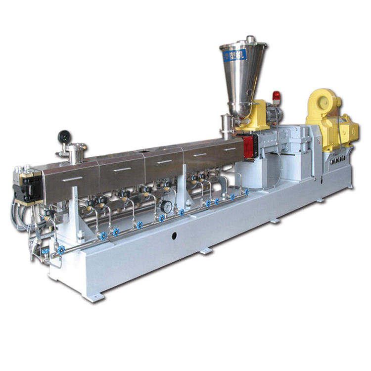 Plastic pellet polymer compounding parallel co-rotating twin screw extruder price