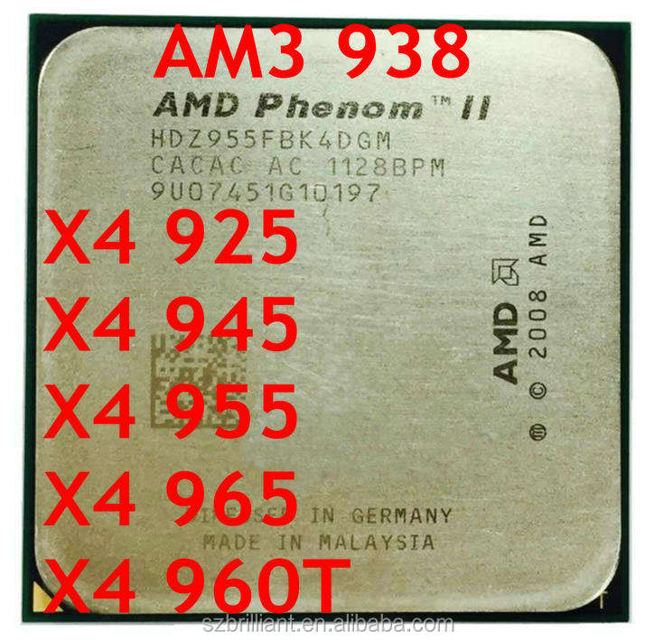 AMD Athlon II X4 925 X4 945 X4 955 X4 965 X4 960T AM3 938PIN