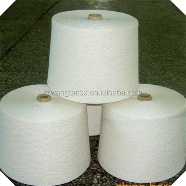 30s/1 Single Count Polyester Spun Yarn For Weaving and Knitting Machines