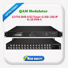Dvb-s2 signal tuner to cable tv dvb-c rf qam modulator
