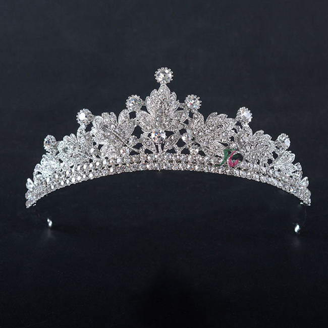 Hot sale fashion european wedding tiara rhinestone crown with stunning rhinestones