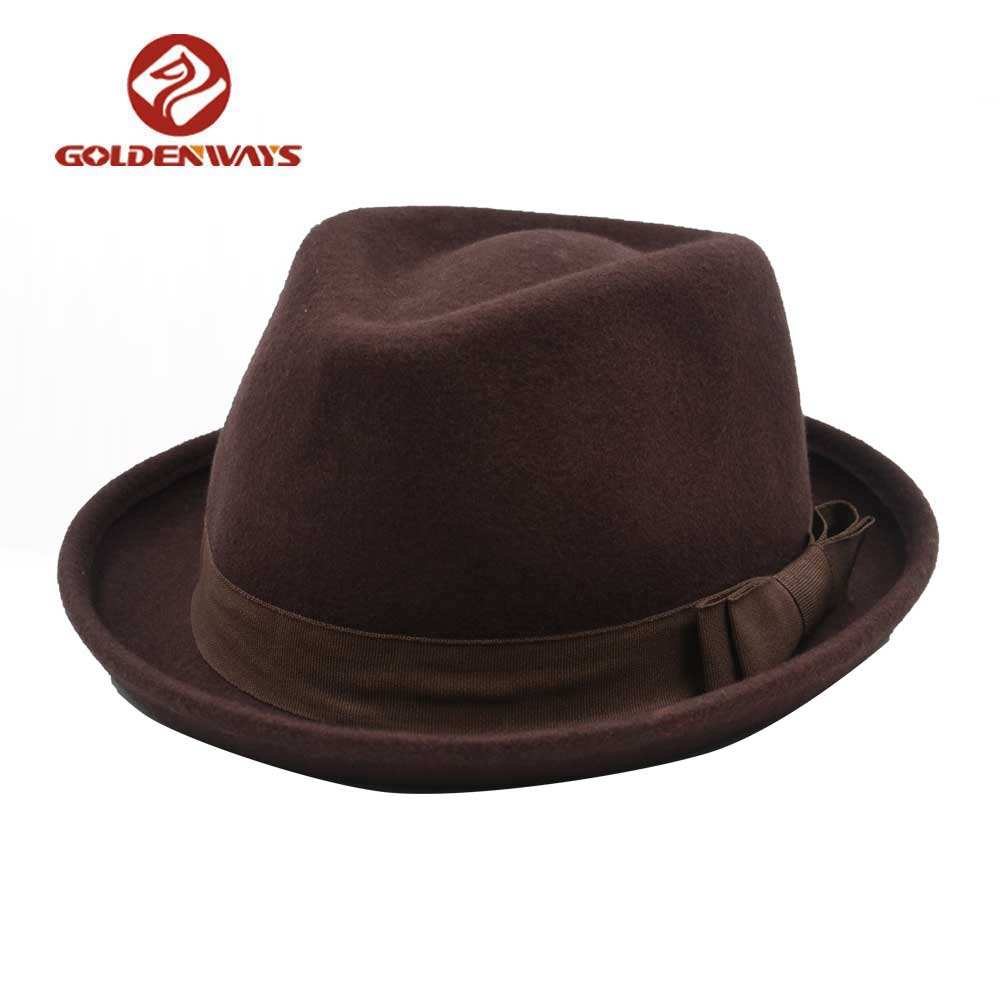 Fabriek koop mens top fedora bolhoed