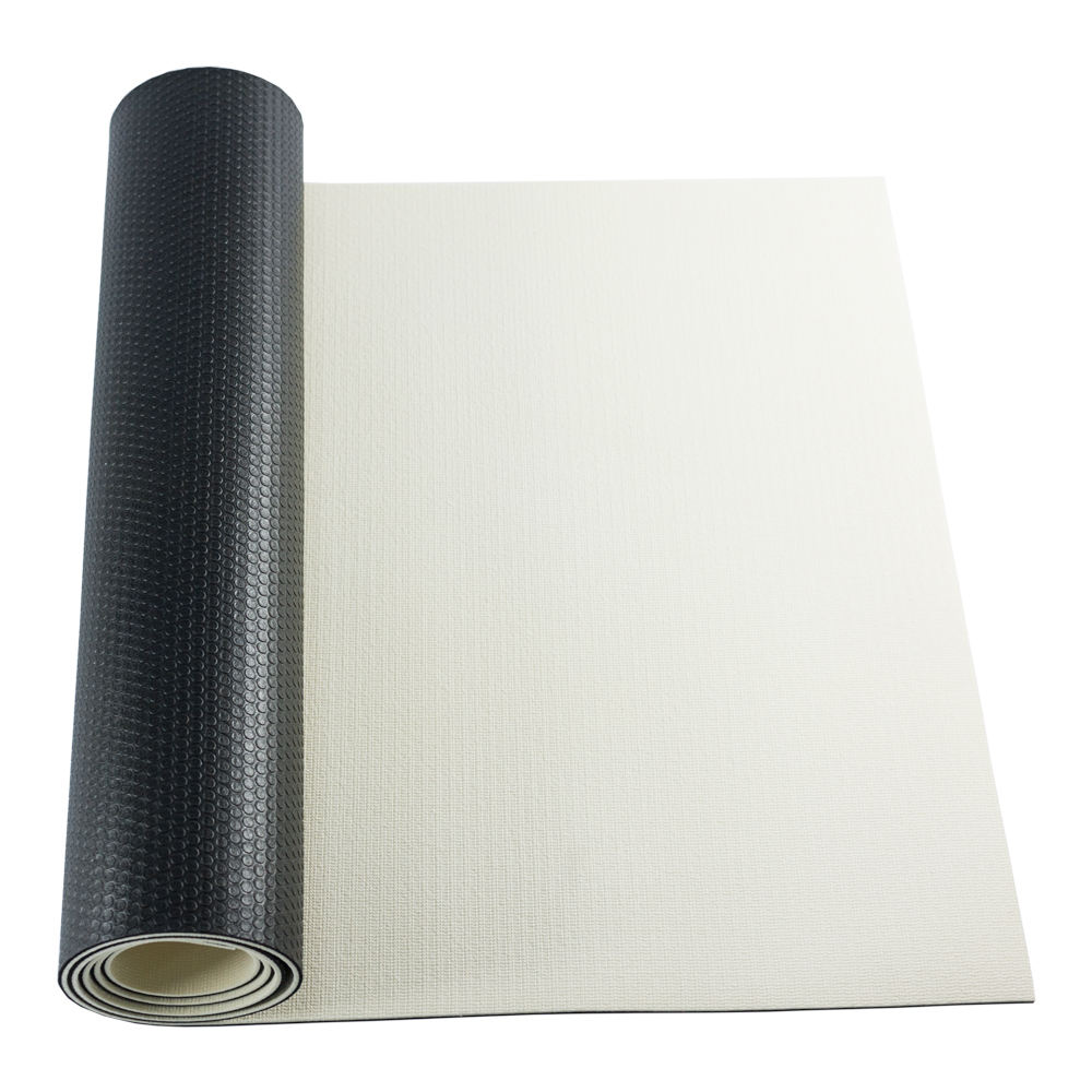 Eco friendly white top and black bottom high density pvc per yoga mat for customized print