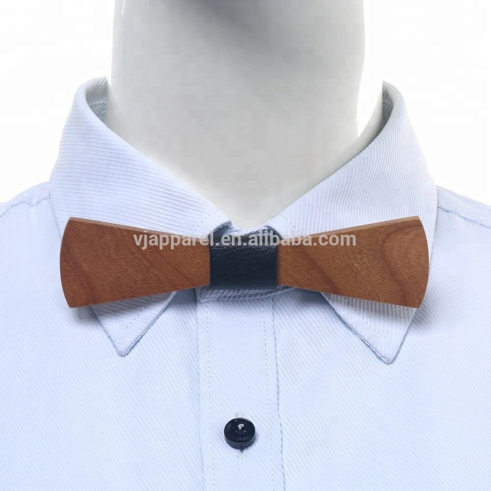 Vogue Small Size Thin Wooden Bow Ties Wholesale