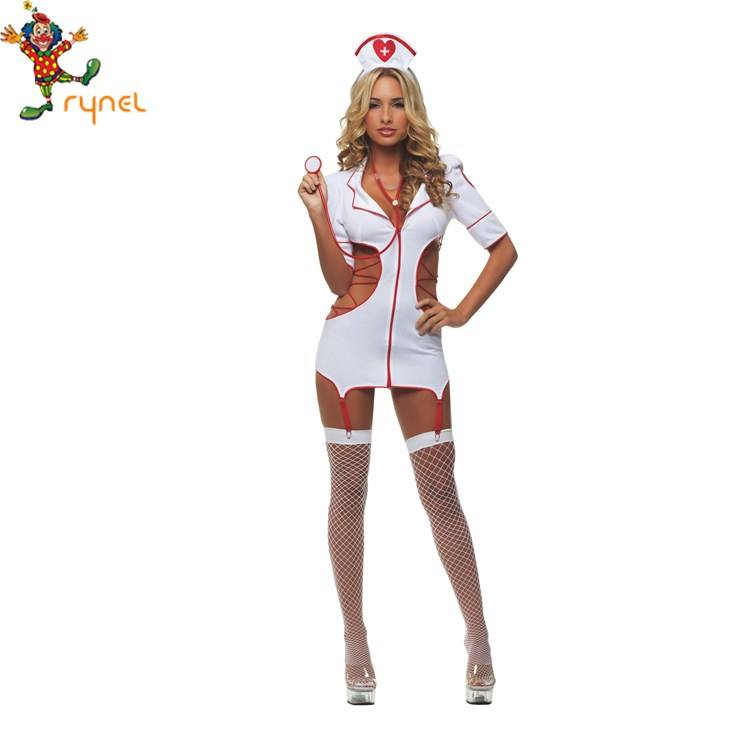 PGWC1697 Wholesale High Quality Sexy Girl Halloween Japanese Nurse Cosplay Costume