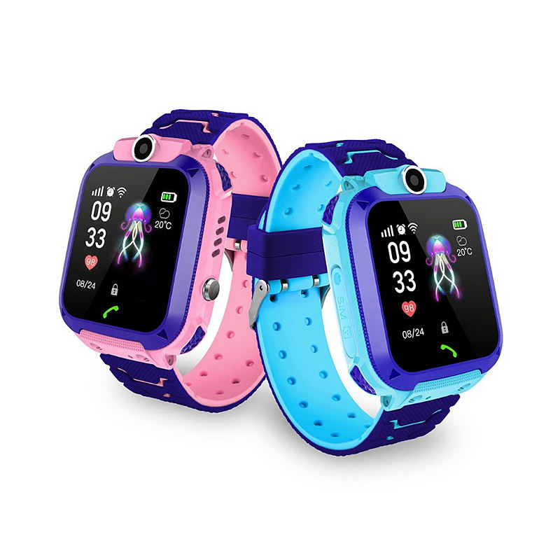 Student 2G smart watch Q12 with SIM card camera dial call LBS SOS for kids phone smartwatch S5