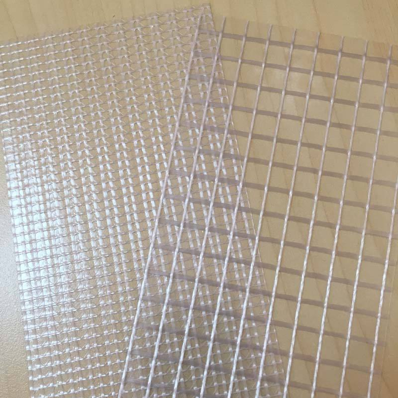 1000D*4*4 PVC High Transparent Tarpaulin/ Clear PVC Cold Laminated Polyester Mesh Fabric