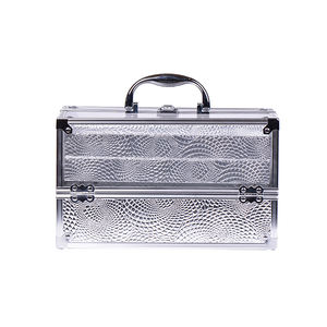 Beauty Box Private Label Transparent Acrylic Aluminum Vanity Makeup Case