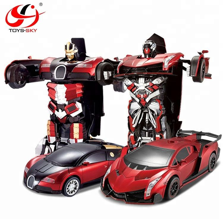 Christmas Gift TT667 RC Transformation Toys one key remote control car action figures class Electronic car transform robot toy