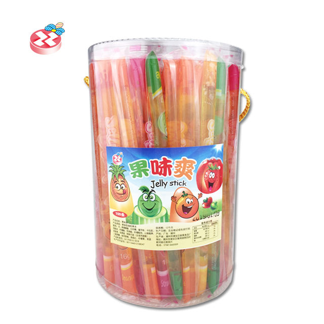 Halal fruit jelly stick flavored Jelly Candy Stick Jelly Drink For Kid