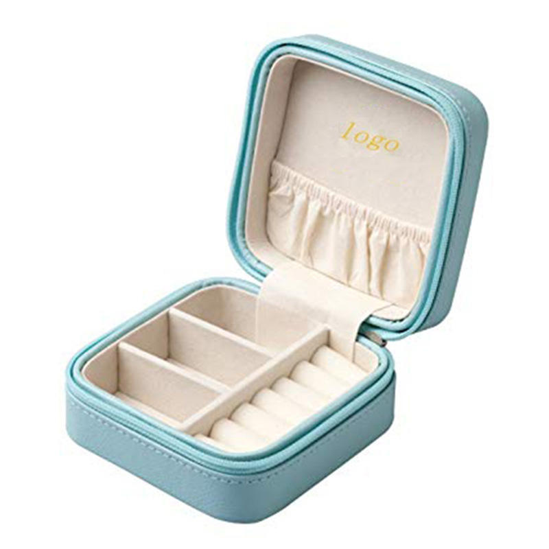 Jewelry Storage Jewelry Box Jewelry Travel OrganizerPortable Jewelry Box Storage 2 Layer Hand Held Traveling Jewelry Case With Handle And Snap Closure
