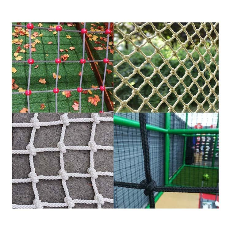Custom nylon/polyester/PP cargo net, safety net, climbing net for outdoor and playground climbing