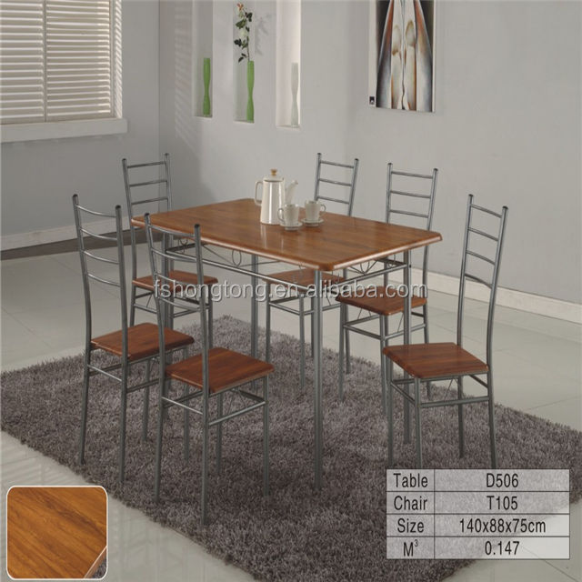 cheap modern dining set/cheery red refectory table