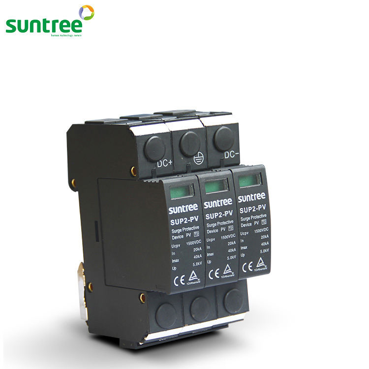 SUP2-PV Power Supply Surge Protective Device DC 3P 1500V SPD with TUV CE