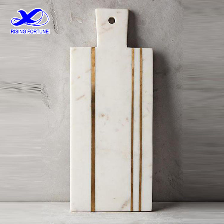 Marble Cheese Board White Marble Brass Inlay Cheese Board
