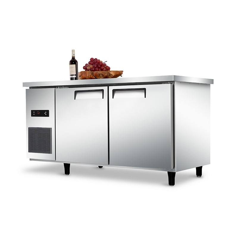ventilated Auto-defrost SS304 foaming door commercial under counter freezer for hotel kitchen sushi restaurant