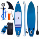 Inflatable Stand up Paddle Board Surfboard SUP Board with Adjustable Paddle Carry Bag Manual Pump Repair Kit Removable Fin
