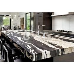 108 inches Brazil Black Copacabana Granite Kitchen Countertop