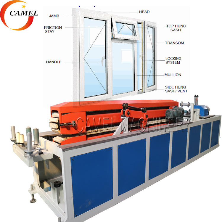 upvc window door frame making machine/ pvc profile extrusion line