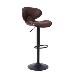 Modern Fabric Black Metal Steel Barstool Adjustable Bar Stool Set High Chair