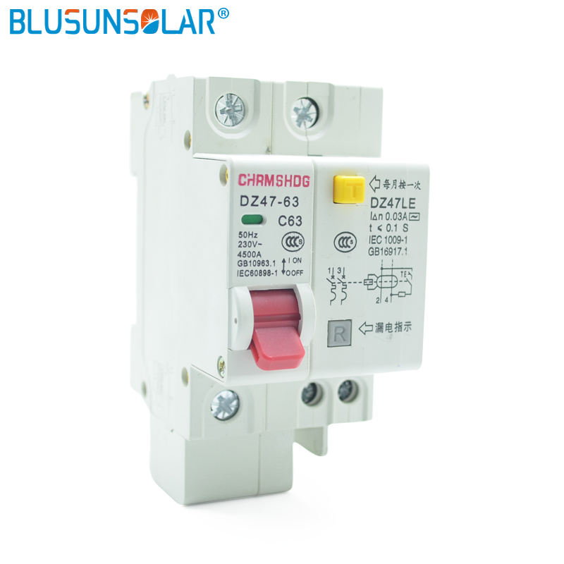 RCBO MCB 230V 1P+N 2P+N 3P+N RESIDUAL CURRENT CIRCUIT BREAKER with over and short current Leakage protection breaker
