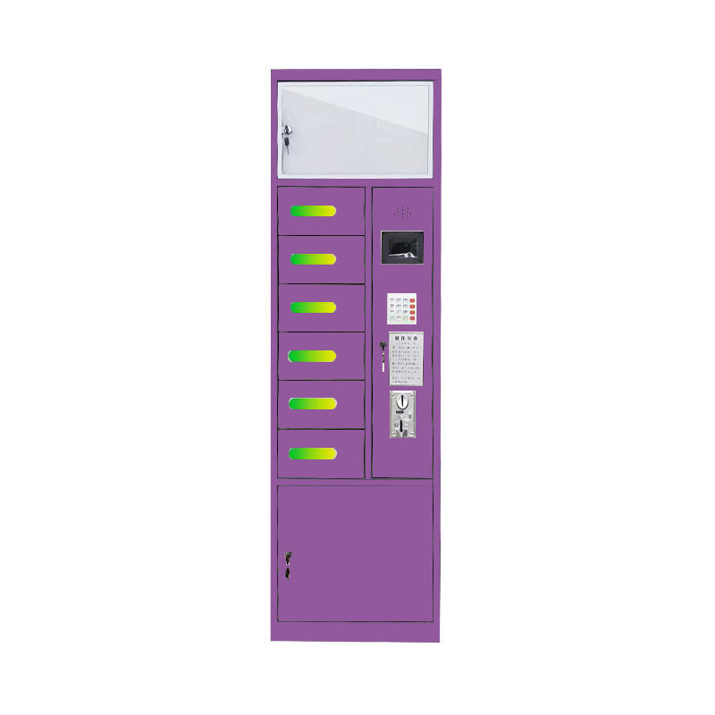 Public coin operated phone charging machine multi cell phone locker