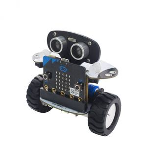 Microbit Robot Kit Programmable Robot RC Mobil APP Kontrol Web Grafis Program W/Microbit