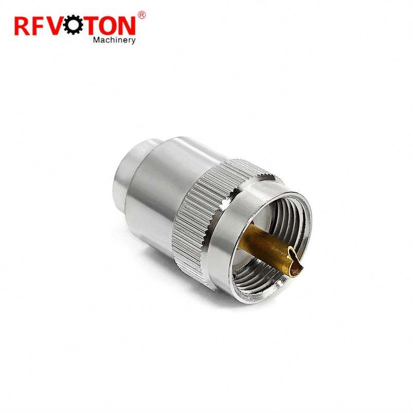 UHF PL259 male solder connector for rg8/rg213/rg214 cable lmr400 connector