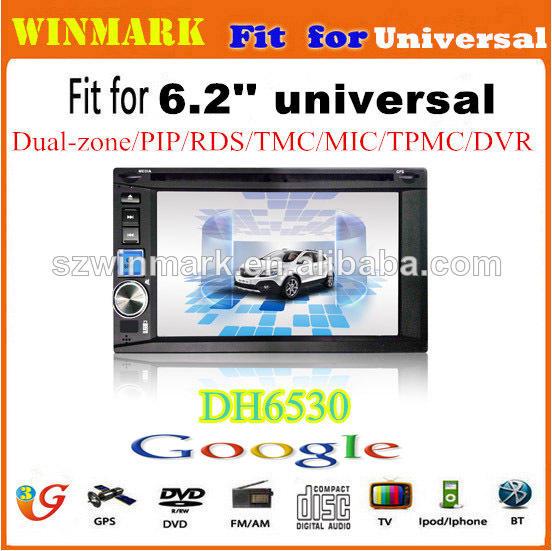 6.2'' 2din HD écran tactile multimédia de <span class=keywords><strong>voiture</strong></span> avec GPS, BT, RDS, TMC, DVR, radio, A-TV, DVB-T, <span class=keywords><strong>ATSC</strong></span>, ISDB, 3G, PIP, etc
