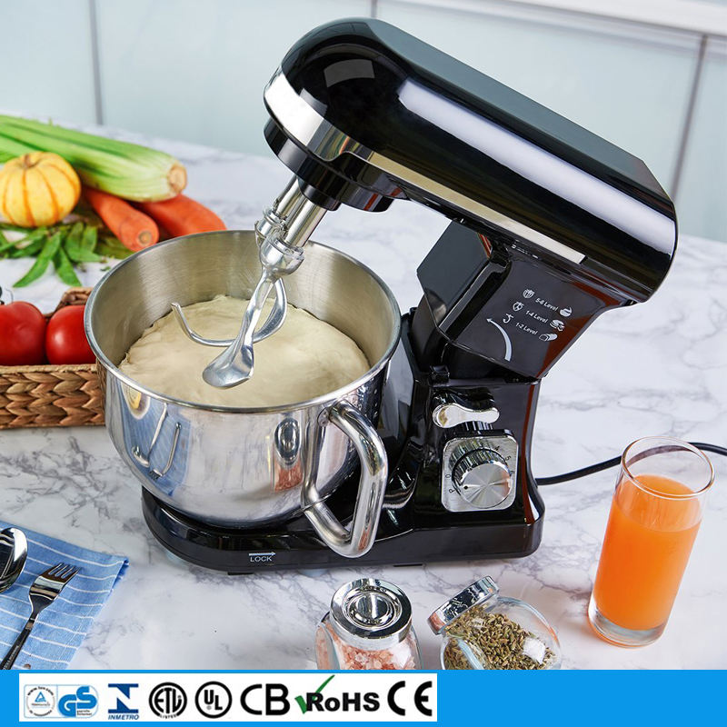 heavy duty 6 speed powerful 500w mixer with stainless steel bowl 3in1 stand mixer with dough hooks electric hand food mixer
