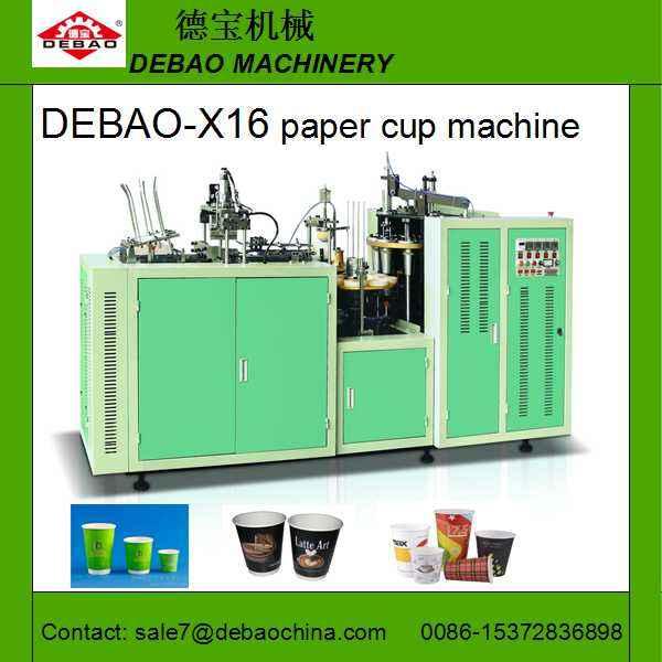 Debao- x16 shunda pappbecher maschine