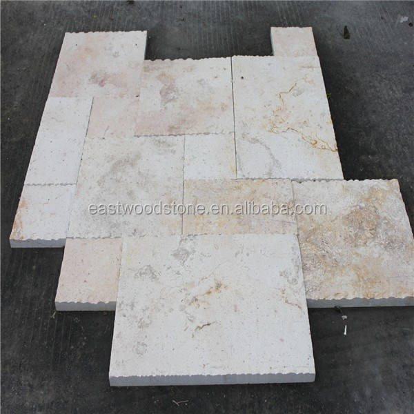 Domestic beige travertine stone